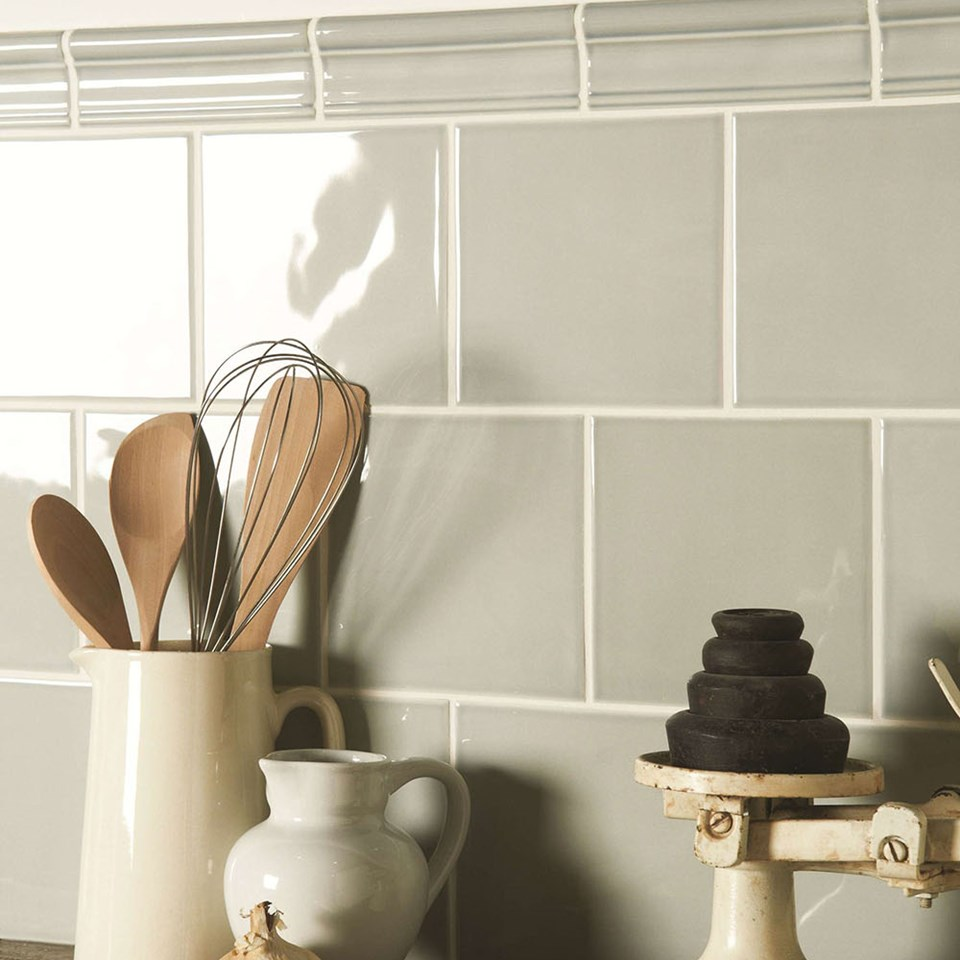 kitchen white related light wall metro grey tiles posts