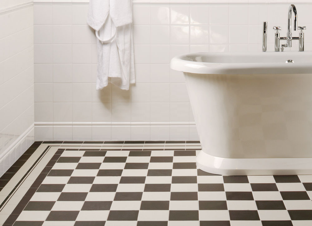 black and white floor tile.  Gallery Victorian Floor Tiles