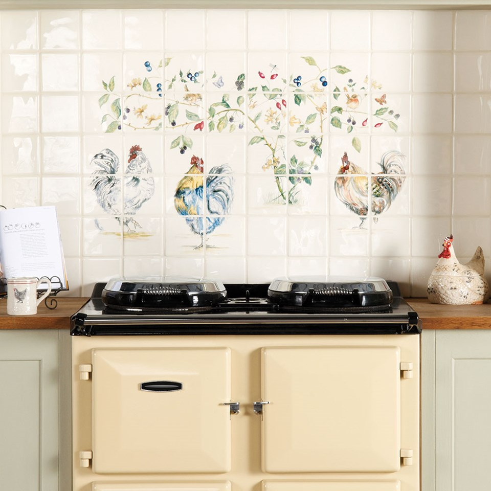 Decorative Chickens For Kitchen Farmhouse Kitchen Tiles