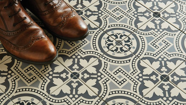 Hand Decorated Floor Tiles