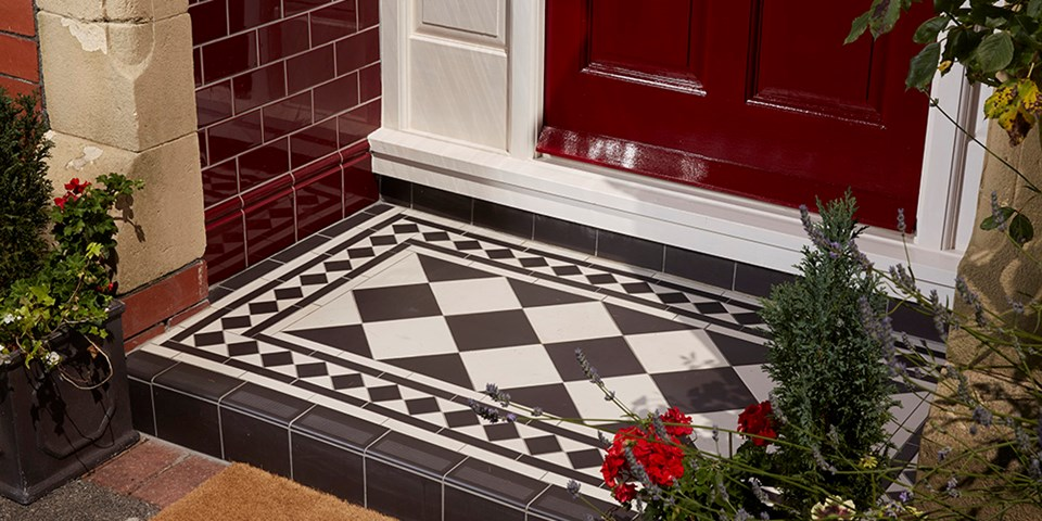 Victorian Floor Tiles Small Porch Tile Ideas