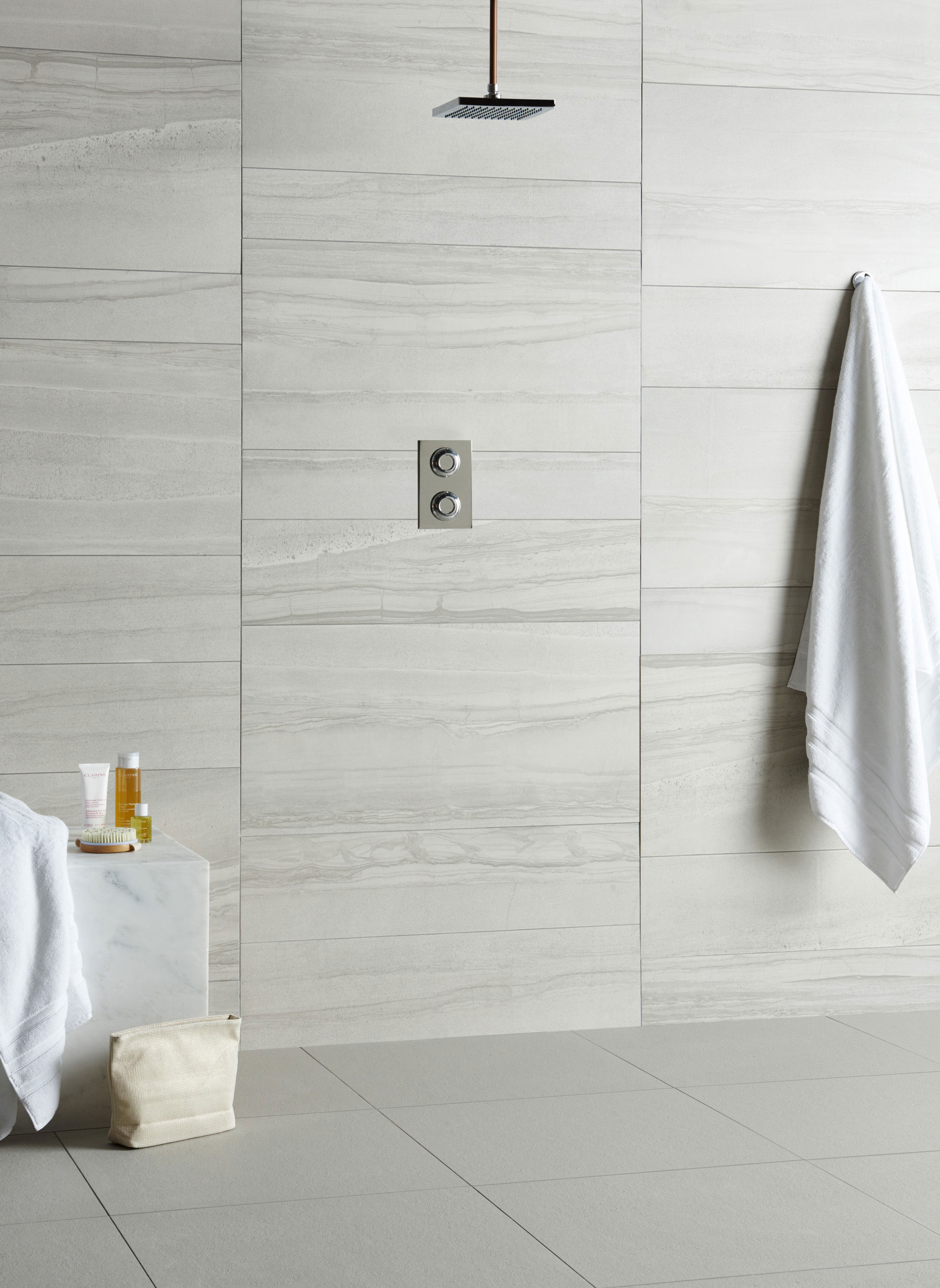 contemporary modern bathroom tile ideas rh originalstyle com White Modern Bathroom Floor Tile Modern Vertical White Tile Bathroom