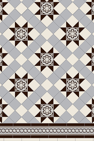 Blenheim 3 Colour Tile Pattern