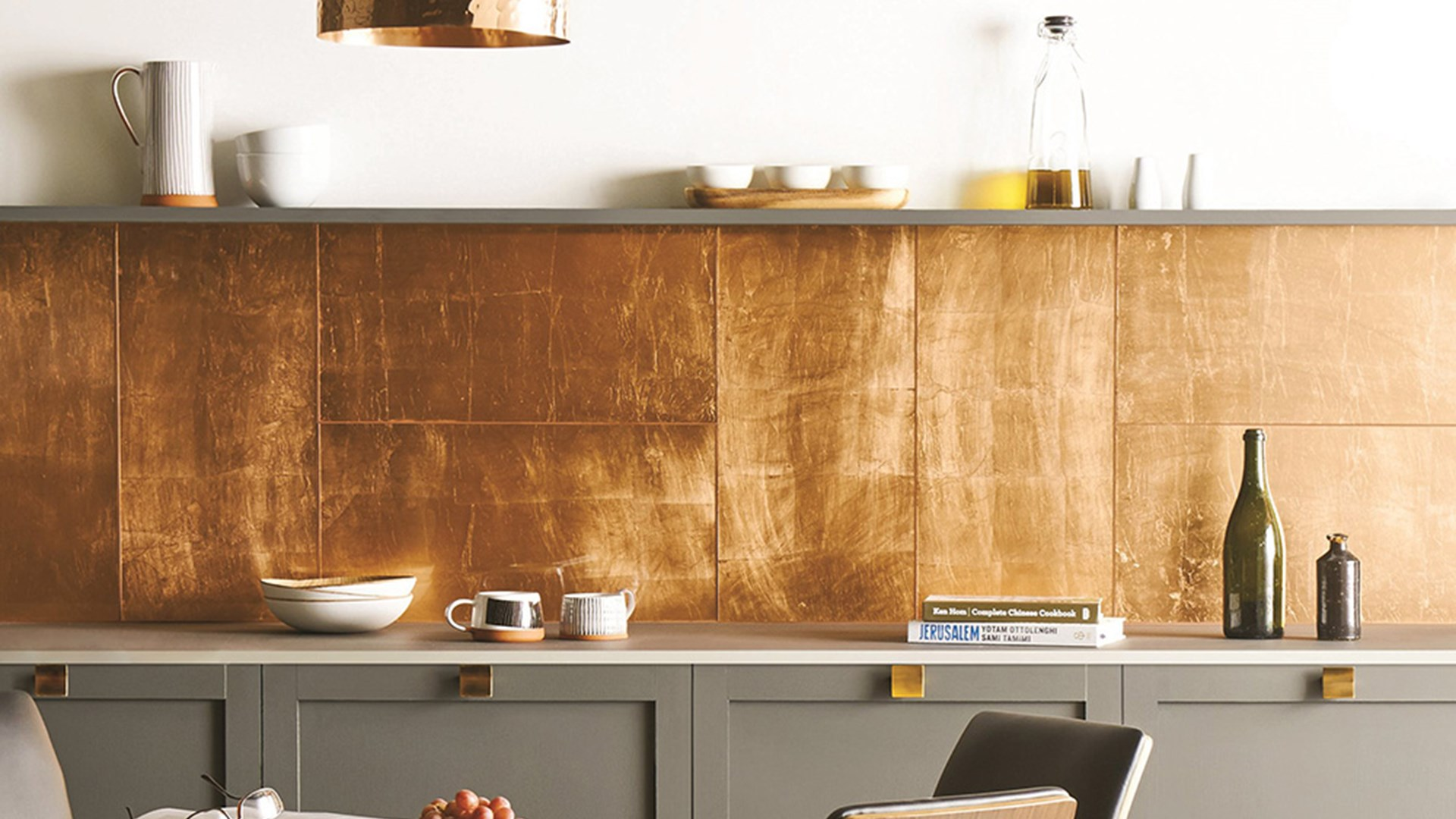 Original Style Glworks Copper Leaf Gl Gw Clf6030 With Metallic Steel Porcelain Tiles