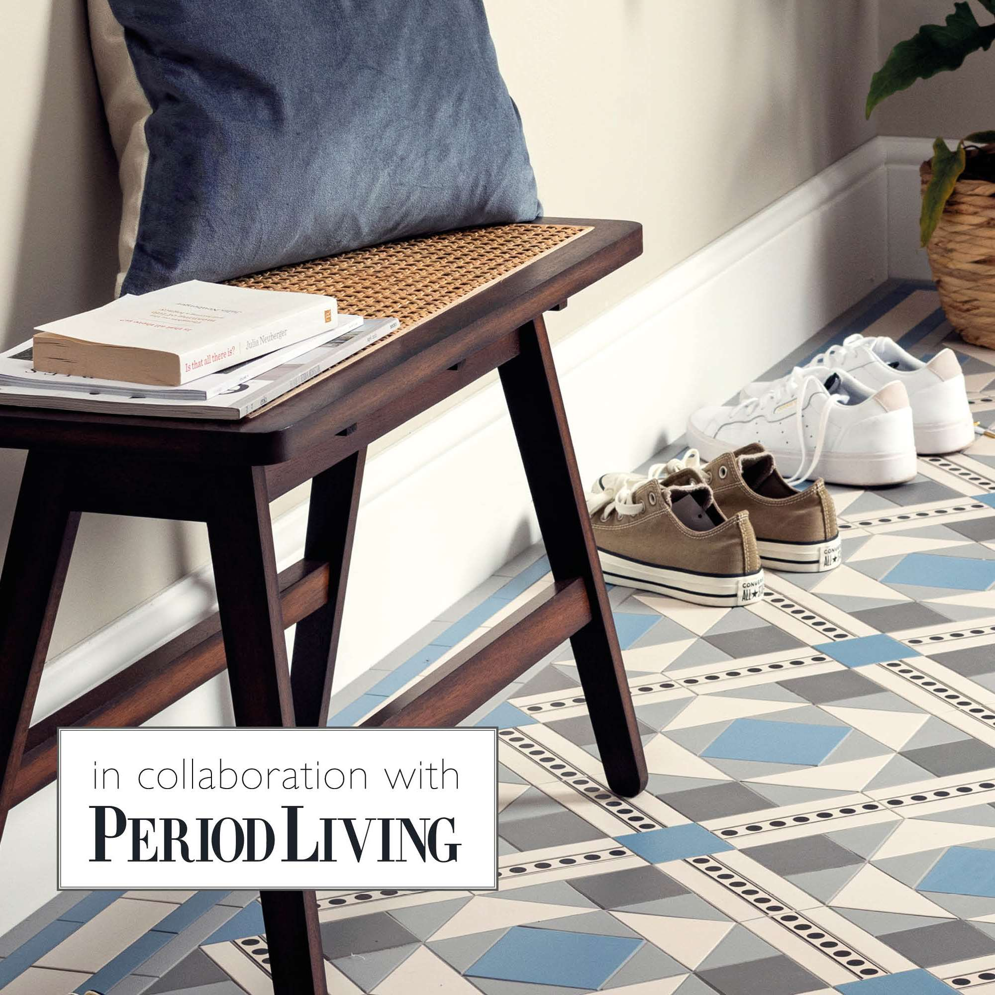 Our new Victorian Floor Tile pattern in collaboration with Period Living