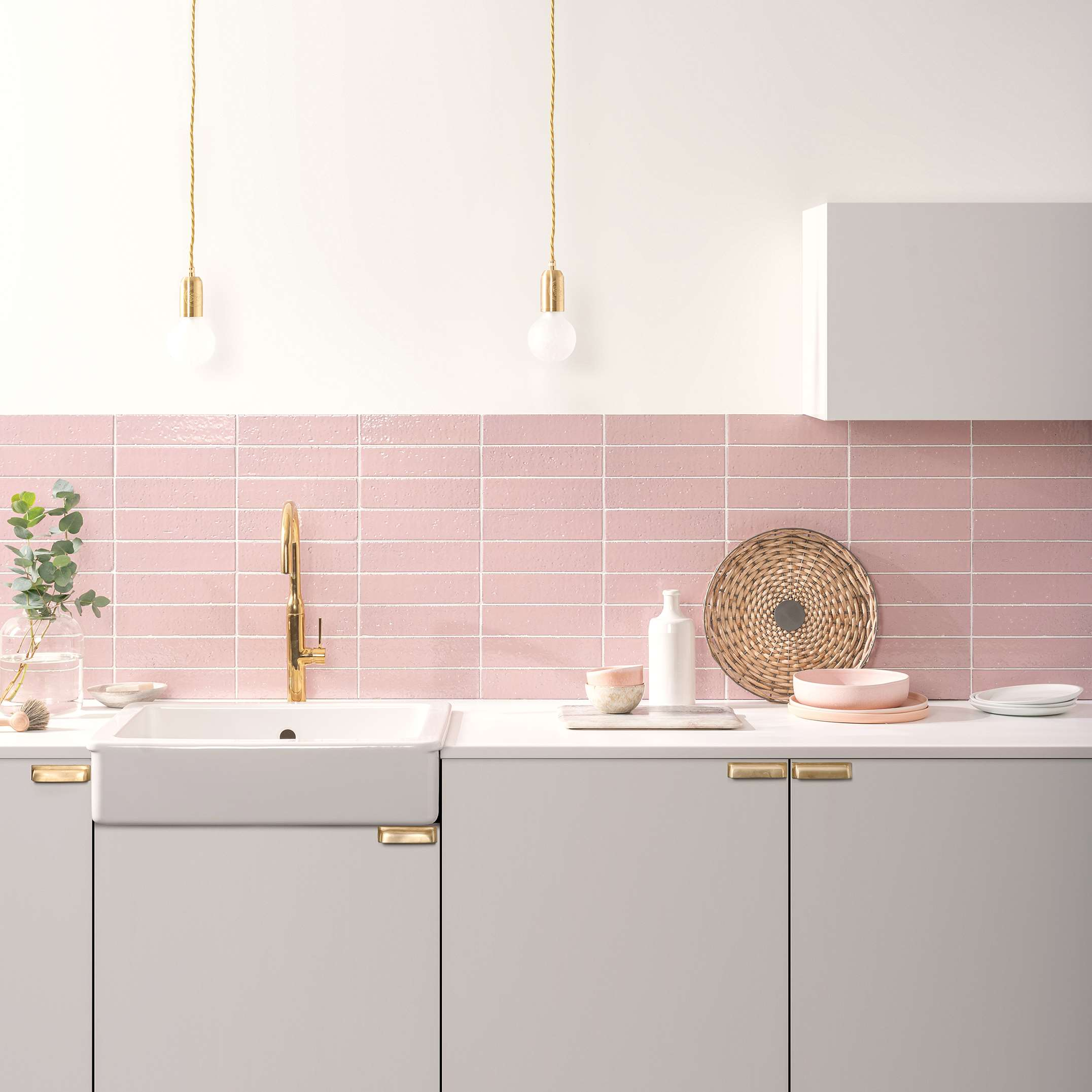 New Pink, Blue and White Gorgeous Glazed Wall Tiles from the Winchester Collection!