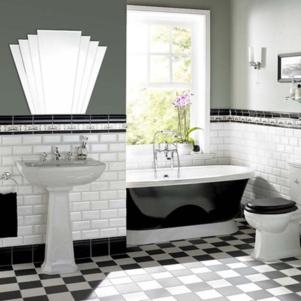 Bathroom Tiles Victorian Style in the monochrome zone | inspire me