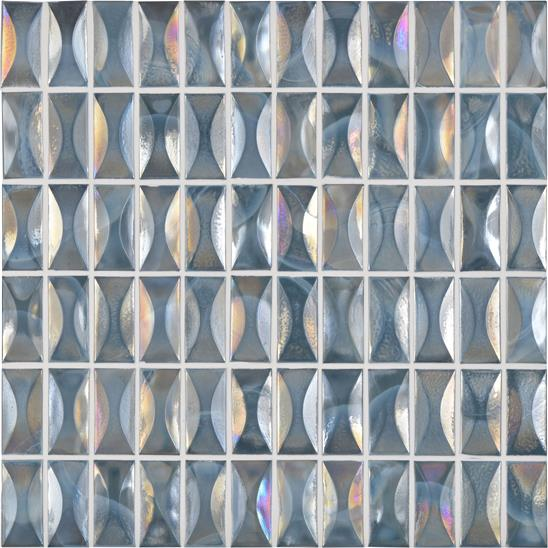Beryl Glass Iridescent Mosaic