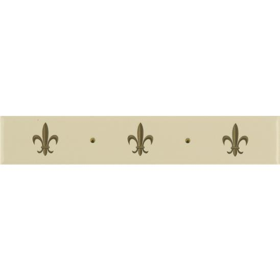 Fleur de Lis Border Gold on Colonial White