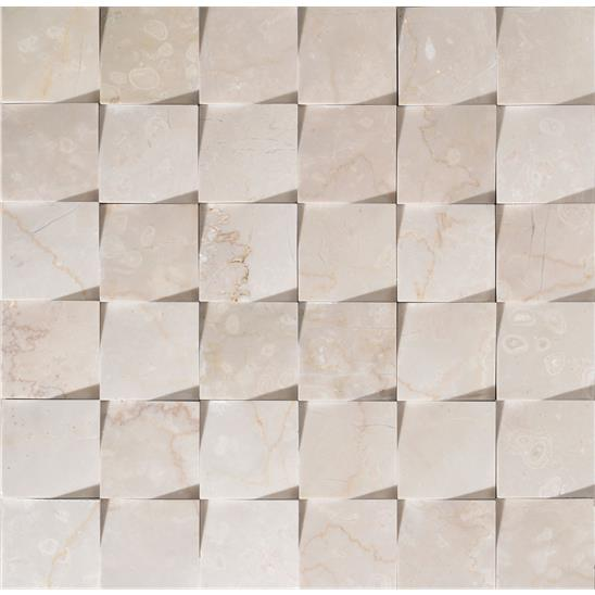 Origin Beige Honed Marble Mosaic