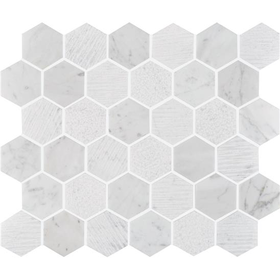 Nares Hexagon Marble Mosaic
